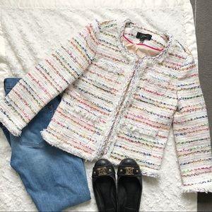 🎉HP🎉 J Crew Lady Jacket in White Tweed